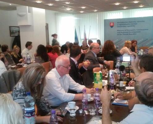 Porada na Ministerstve dopravy, výstavby a regionálneho rozvoja s RRA zaradenými do IS RRA, 17.9.2014 Bratislava